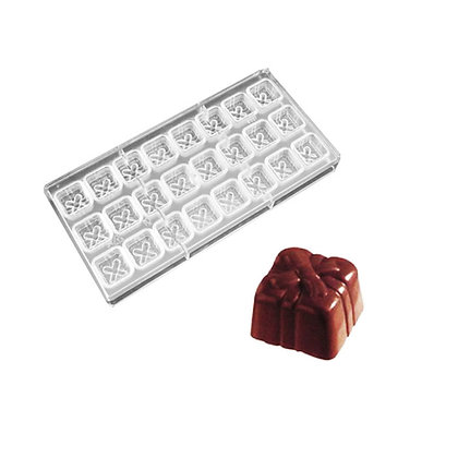 O'Creme Polycarbonate Chocolate Mold Gift Box, 24 Cavities