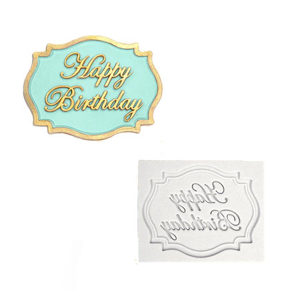 O'creme Happy Birthday Banner Silicone Mold