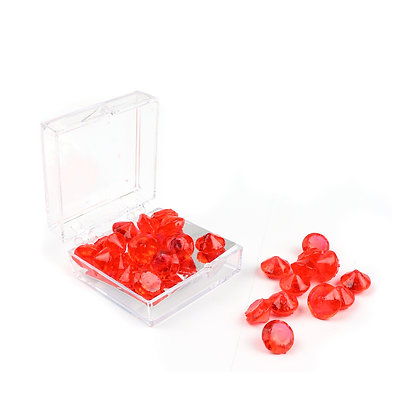 O'Crème Edible Red Diamond Jewels 8mm (28 Pieces)