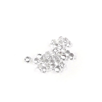 O'Crème Edible Clear Diamond Studs 4mm (65 Pieces)