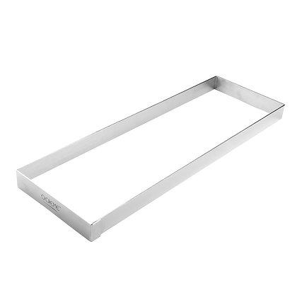 "O'Creme Stainless Steel Rectangular Biscotti Ring, 16"" x 5.25"" x 1"" High"
