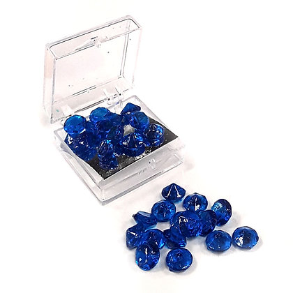 O'Crème Edible Sapphire-Blue Diamond Jewels 6mm (38 Pieces)