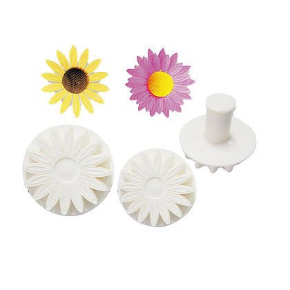 O'Creme Sunflower Plunger Cutter, Set of 3