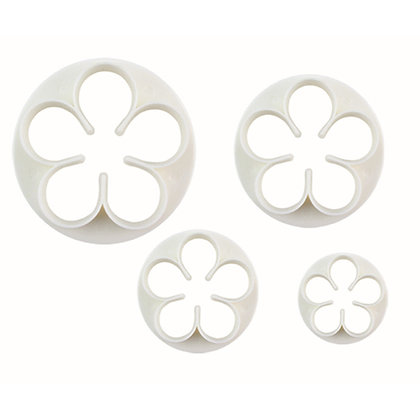 O'Creme 5 Petal Flower Cutter, Set of 4
