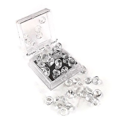 O'Crème Edible Clear Diamond Jewels 10mm (16 Pieces)