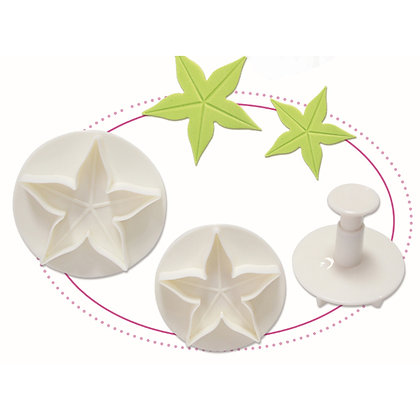 O'Creme Veined Calyx Plunger Cutter, Set of 3