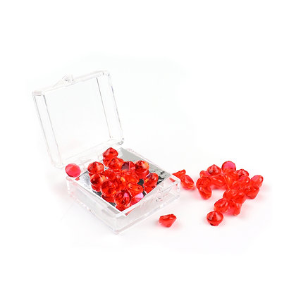 O'Crème Edible Red Diamond Jewels 6mm (38 Pieces)