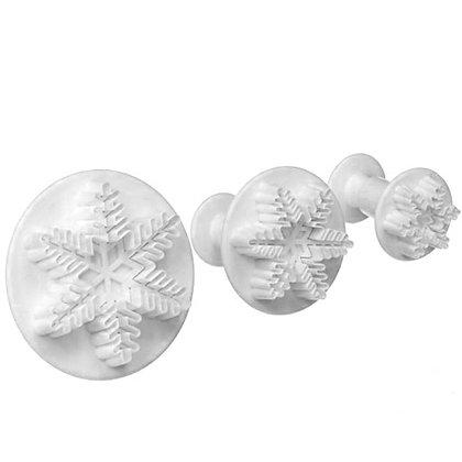O'Creme Snowflake Plunger Cutter, Set of 3