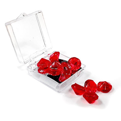 O'Crème Edible Red Diamond Jewels 12mm (12 Pieces)