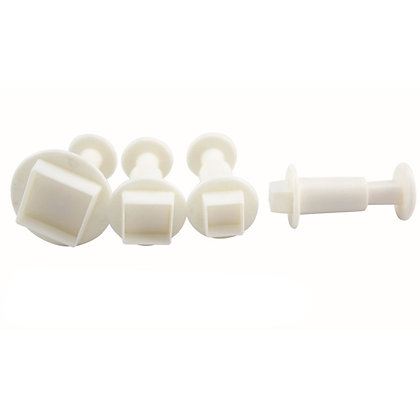 O'Creme Square Plunger Cutter, Set of 4