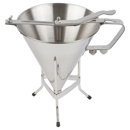 O'Creme 500102 Deluxe 2-Liter Confectionery Funnel with Stand