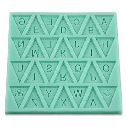 O'Creme Silicone Alphabet Triangle Fondant Mold