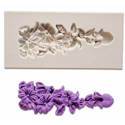O'Creme Silicone Fondant Mold, Flower Pendant