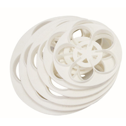 O'Creme 5 Petal Flower Cutters, Set of 6