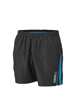 JN488-Black-Blue Shorts Mens GAA Style (Unisex)
