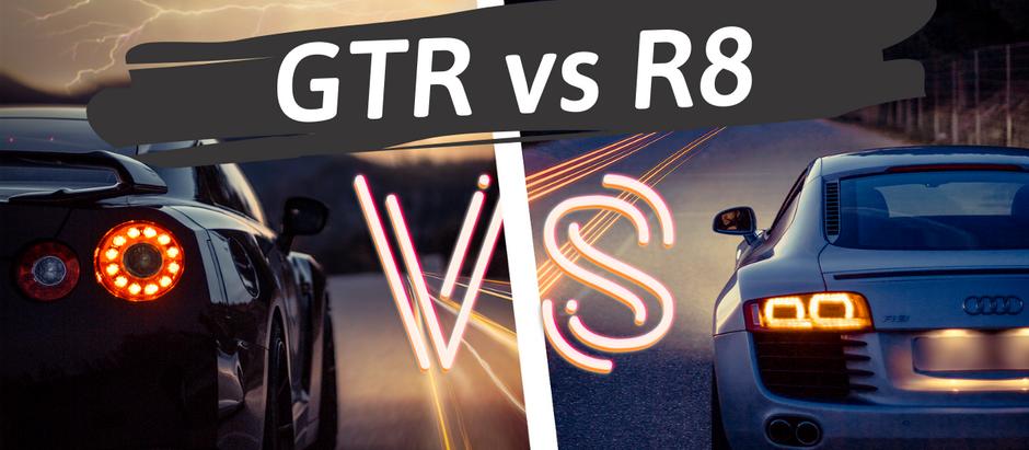 Présentation Audi R8 & Nissan GTR