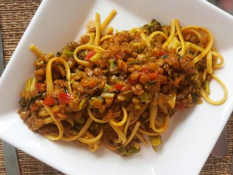 Macarrão Bolonhesa de Lentilha -  Bolonhesa Vegana