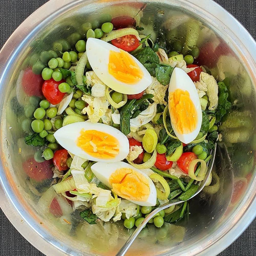 salada de ervilhas frescas