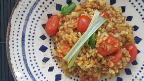 Risoto Vegano Integral de Tomate Cereja