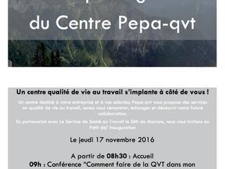 Inauguration du Centre Pepa-qvt !