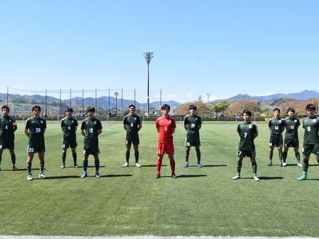 第54回東京都大学サッカーリーグ1部 第1節 山梨学院大学戦