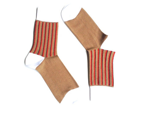 Brown & Red Striped Sox
