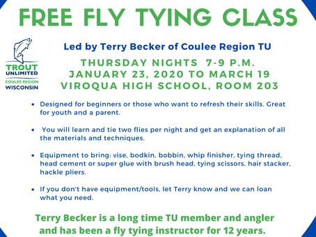 Free fly tying class in Viroqua