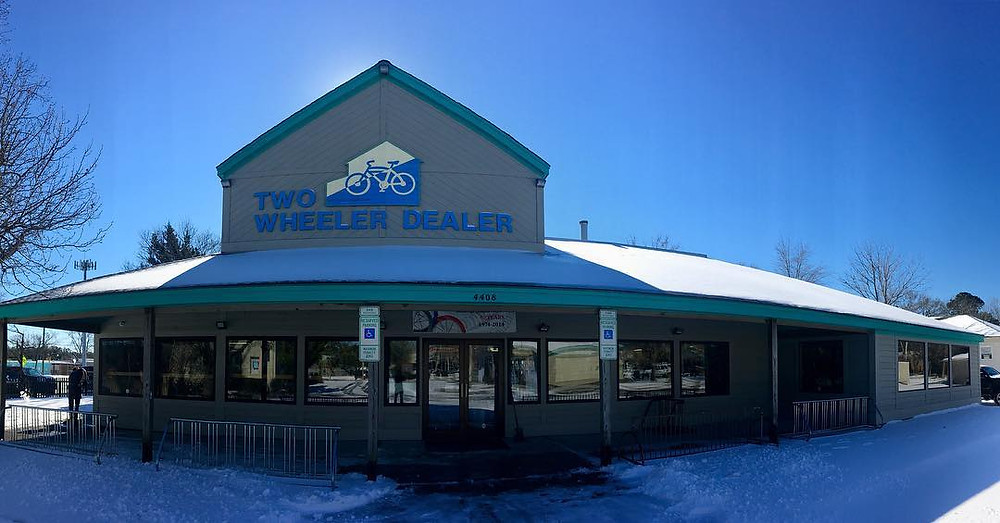 Just a fun wide angle picture of the shop with snow back in the first part of January! Haha! Glad that is over with!!
