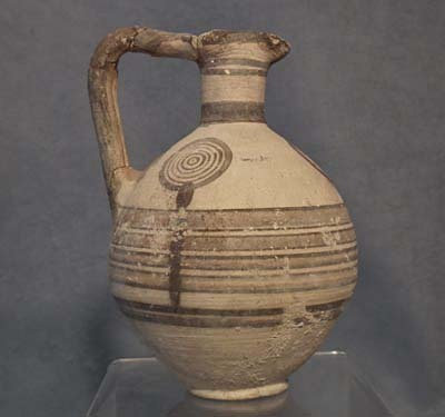 Ancient Cypriot Bichrome Ceramic Wine Jug CYPRUS 750-600 B.C.