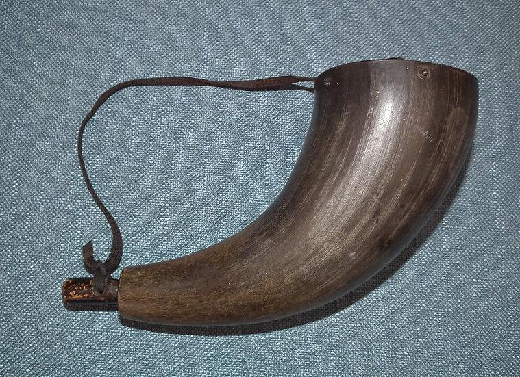 Antique 19th century American Bison Buffalo Gun Powder Horn