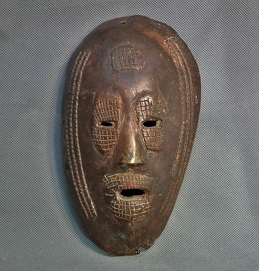 Antique African Ancestral Bronze Mask