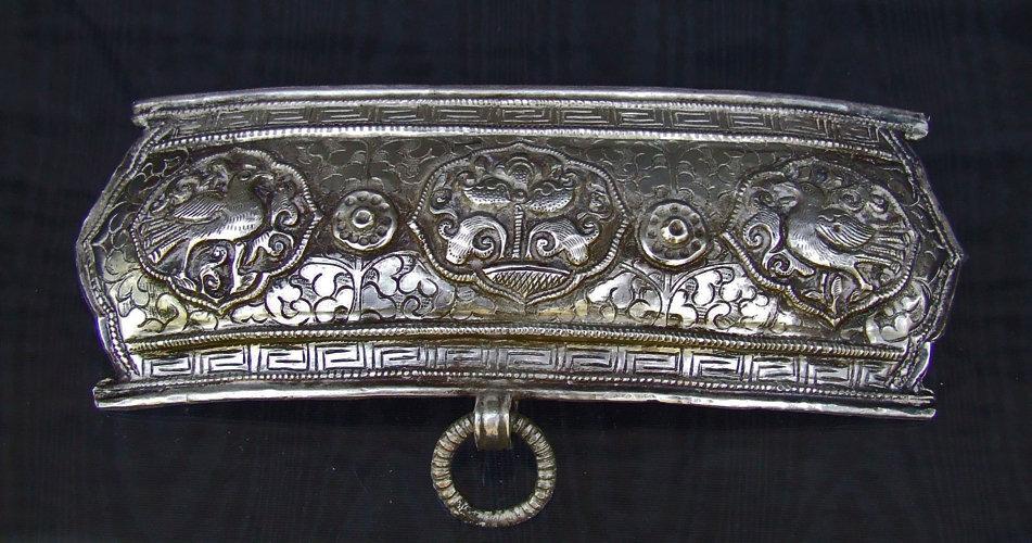 Antique 19th century Tibetan silver Apron Clasp Buckle