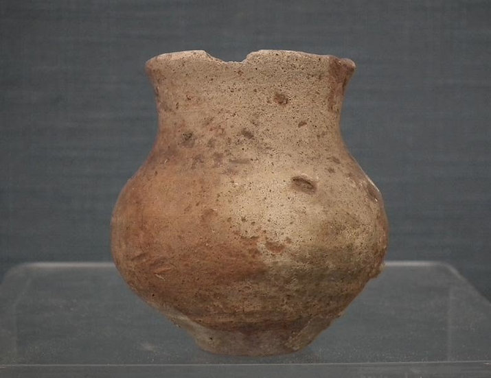 Ancient Holy Land Bronze Age 3150-2200 BC Canaanite Terracotta Pottery Vessel