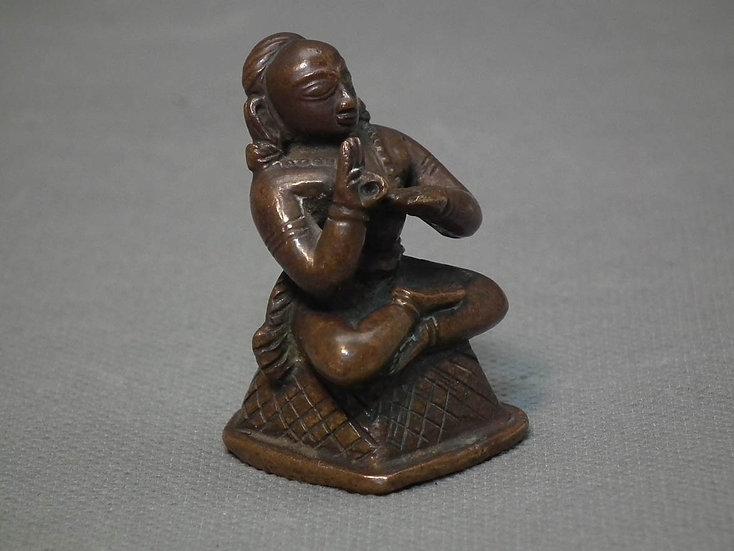 Antique 17-18th Century Indian Bronze Figure Hindu Deity
