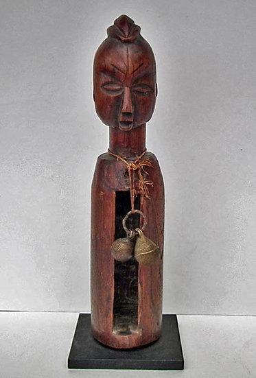 Antique African Yaka Diviner Janus Slit Gong Drum Mukoku Ngoombu