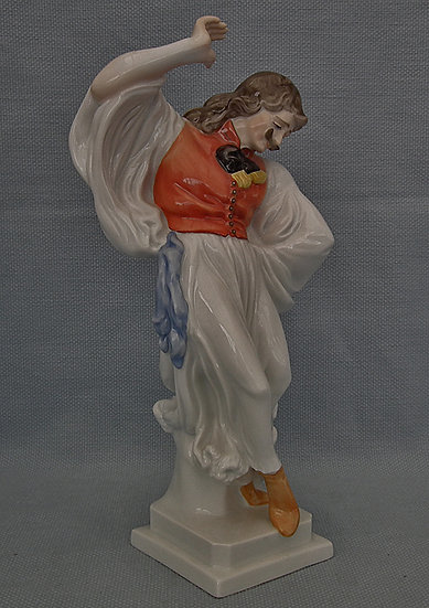 "Vintage Hungarian Herend Porcelain Figurine Hungarian Peasant Dancing ""Lad"""