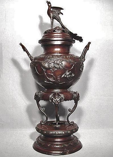 Antique Japanese Bronze Censer Meiji Period (1868-1912)