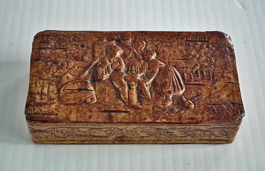 Antique 19th century German Birch Bark Snuff Box