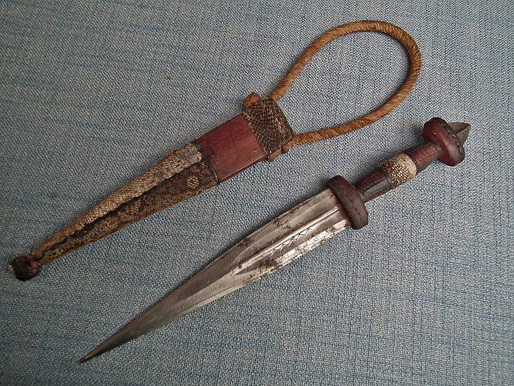 Antique 19th Century North African Sudanese Islamic Mahdist Dervish Arm Dagger