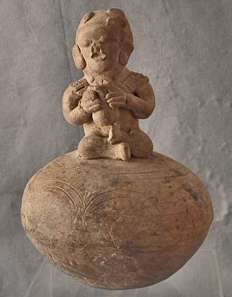 Ancient Pre Columbian Effigy Vessel Ceramic