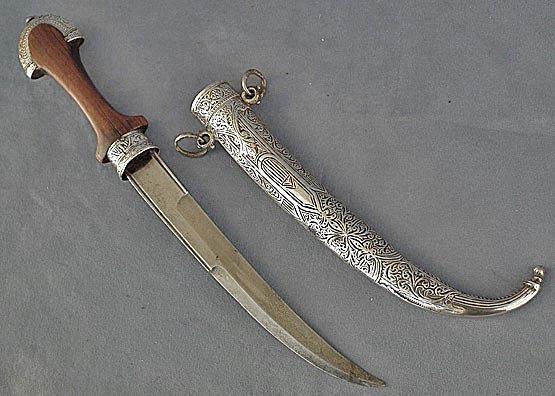 Antique Moroccan Jambiya Islamic dagger Koummya 19th c