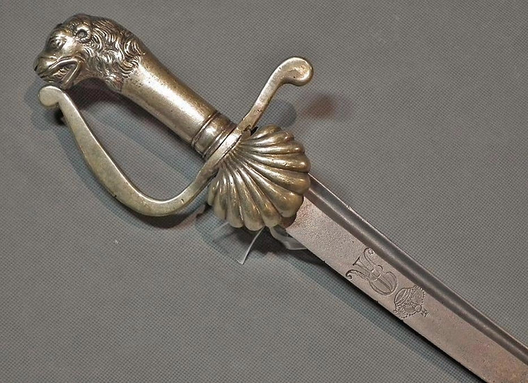 Antique 18th C Polish Saxon Swiss Sword of Augustus II King Of Poland