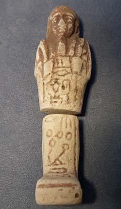 Authentic Ancient Egyptian white faience Shabti Ushabti Hieroglyphs 1550-712 BC