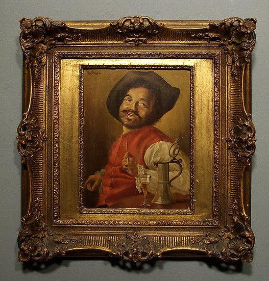 Antique Portrait of a Dwarf Oil Painting