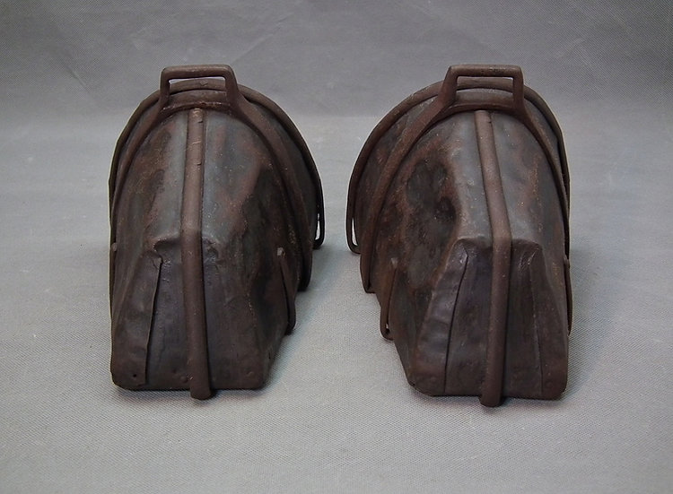 Pair Of Antique German 17th Century Thirty Years' War Cuirassier's Stirrups