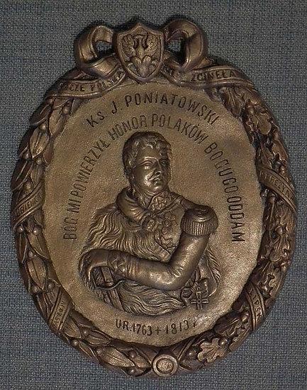 Antique Plaque Prince Jozef Poniatowski Commander Of Polish Napoleonic Army And
