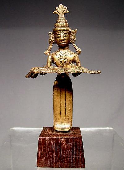 Antique Indian Hindu Bronze Deity 17th century