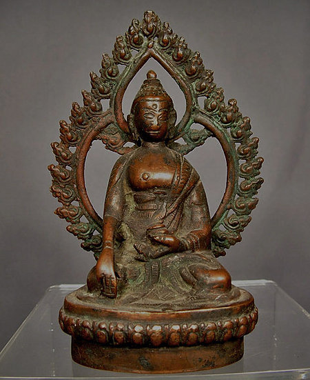 Antique Nepalese or Tibetan Bronze Figure of Buddha Nepal or Tibet 15-18th c