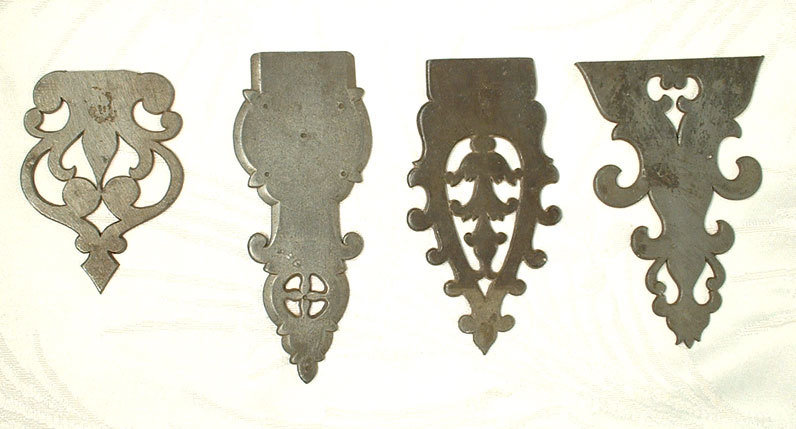 Antique Pewter Cabinet Hinges Pattern 18th Century