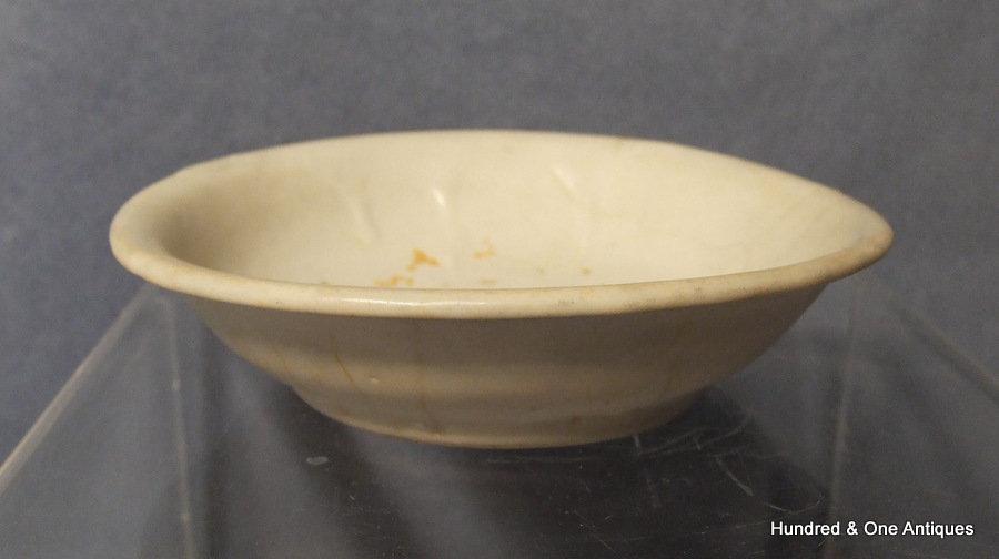 Antique Chinese White Glaze Calligraphic Brush Washer Song Dynasty